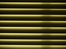 Horizontale Fenstervorhänge, Abschluss oben Lizenzfreie Stockfotos