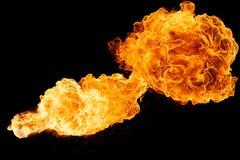 Horizontale Feuerkugel stockbilder