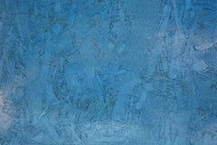 Horizontale foto blauwe gekleurde transparante verf met het handhaven van de textuur en de overgang die van toon spaanplaat onder Royalty-vrije Stock Afbeelding
