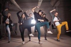 Horizontale foto van dansles openlucht stock foto