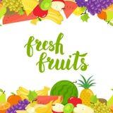 Horizontale Grenze der nahtlosen Früchte Lizenzfreie Stockfotos