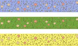 Horizontale Grenze mit Blumen Vektor Abbildung