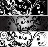 Horizontale Greyscale Arabesques Royalty-vrije Stock Fotografie
