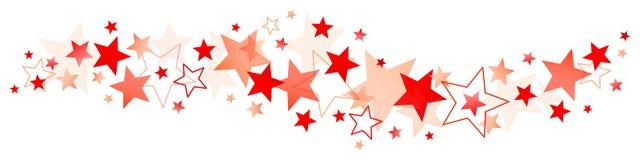 Horizontale Grote Grens en weinig Rode Sterren royalty-vrije illustratie