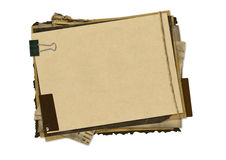 Horizontale grunge Papierauslegung Lizenzfreie Stockbilder