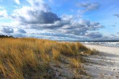 Horizontale het landschap van het strand Stock Foto's