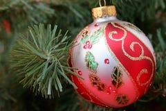 Horizontale het Ornament van Kerstmis royalty-vrije stock afbeeldingen