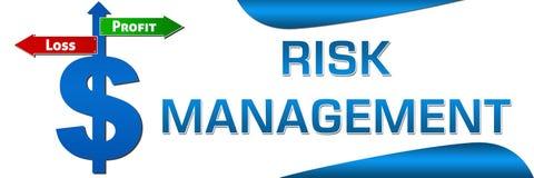 Horizontale het symbool van de risicobeheerdollar Royalty-vrije Stock Foto