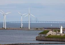 Horizontale horizontale windturbogeneratoren, bri Royalty-vrije Stock Fotografie