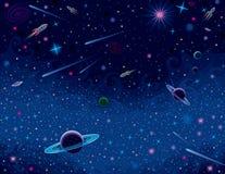 Horizontale Kosmische Achtergrond Royalty-vrije Stock Fotografie