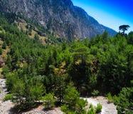 Horizontale levendige dramatische het landschapsachtergrond van de zomerbergen Stock Afbeelding