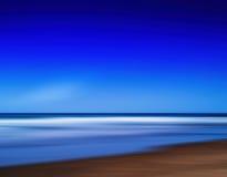 Horizontale levendige trillende oceaan de motieabstractie van het paradijsstrand Stock Afbeelding