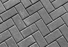 Horizontale levendige zwart-witte geweven straatbestrating Royalty-vrije Stock Foto
