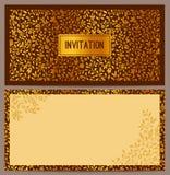 Horizontale luxeuitnodiging Royalty-vrije Stock Afbeeldingen