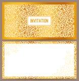 Horizontale luxeuitnodiging Royalty-vrije Stock Afbeelding
