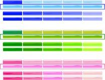 Horizontale Menü-Knöpfe 1 lizenzfreie stockbilder