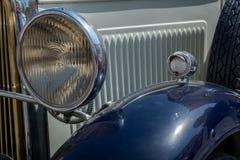 Horizontale Mening van een Koplamp van een Uitstekende Auto royalty-vrije stock foto