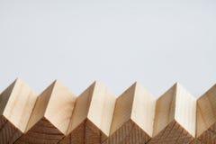 Horizontale menings houten treden, trappenladder Retro macromening van de stijltrap Zachte nadruk De ruimte van het exemplaar Royalty-vrije Stock Foto