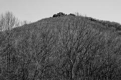 Horizontale Menings Scherpe Hoogste Berg stock foto