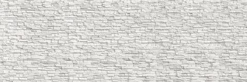 horizontale moderne weiße Backsteinmauer für Muster und Hintergrund Lizenzfreie Stockfotos