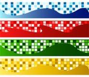 Horizontale Mosaikfahnen Stockbilder