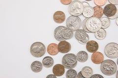 Horizontale muntstukken Stock Foto