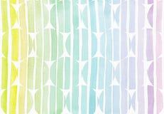 Horizontale naadloze achtergrond met handdrawn inktcirkels in stijl uit de vrije hand, met de korrelige textuur van de streepgrad Stock Afbeeldingen