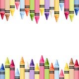 Horizontale naadloze achtergrond met kleurrijke kleurpotloden Vector illustratie royalty-vrije illustratie