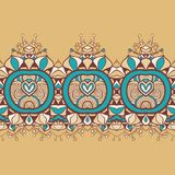 Horizontale naadloze bloemenachtergrond Royalty-vrije Stock Foto