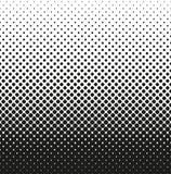 Horizontale naadloze Halftone van rond gemaakte vierkanten vermindert omhoog, op witte achtergrond Contrasty halftone achtergrond Stock Afbeeldingen