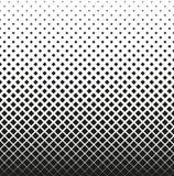 Horizontale naadloze Halftone van vierkanten vermindert omhoog, op witte achtergrond Contrasty halftone achtergrond Vector Royalty-vrije Stock Fotografie