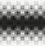 Horizontale naadloze Halftone van zwarte rond gemaakte vierkanten vermindert aan rand, op wit Contrasty halftone achtergrond Vect Royalty-vrije Stock Fotografie