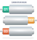 Horizontale Netzdarstellung der Batteriefahne Stockfotografie