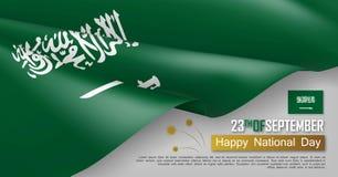 Horizontale Netzfahne Saudi-Arabien Nationaltags Vektor Abbildung