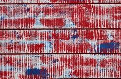 Horizontale panelen met abstract patroon kleuren: rood, blauw, wit Stock Fotografie