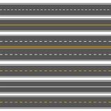 Horizontale rechte naadloze wegen Moderne asfalt herhaalde wegen Rechtstreeks naadloos wegasfalt, wegstraat voor transpo vector illustratie