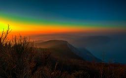 Horizontale regenboog Royalty-vrije Stock Afbeelding