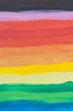 Horizontale regenboog geschilderde borstelslagen royalty-vrije stock foto