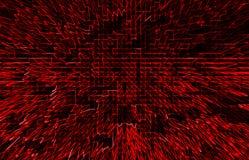 Horizontale rode communicatie bedrijfsabstractie Royalty-vrije Stock Foto
