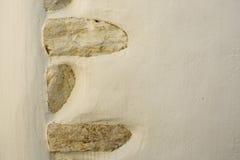 Horizontale Textuur van een Duidelijke Muur met Inlayed-Steen Royalty-vrije Stock Fotografie