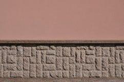 Horizontale textuur van ruwe en sterke de steenfou van het mozaïekgraniet Stock Afbeelding