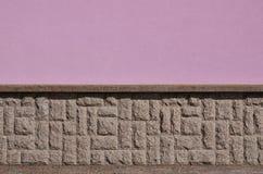 Horizontale textuur van ruwe en sterke de steenfou van het mozaïekgraniet Royalty-vrije Stock Fotografie