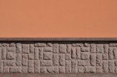 Horizontale textuur van ruwe en sterke de steenfou van het mozaïekgraniet Stock Foto