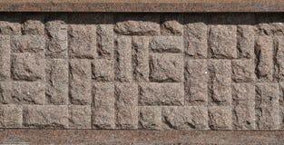 Horizontale textuur van ruwe en sterke de steenfou van het mozaïekgraniet Royalty-vrije Stock Foto's