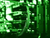Horizontale trillende groene videokaartensli bokeh Royalty-vrije Stock Foto's