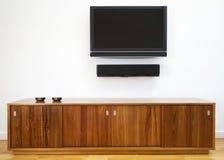 Horizontale TV en kabinet Royalty-vrije Stock Afbeelding
