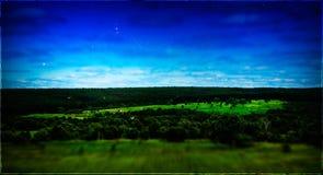 Horizontale uitstekende het geheugenprentbriefkaar van het de zomerlandschap Stock Foto's