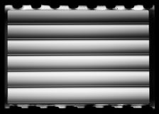 Horizontale uitstekende zwart-witte de textuurachtergrond van de camerafilm Royalty-vrije Stock Foto's