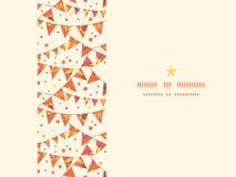 Horizontale Vlaggen van Kerstmis de Geweven Decoratie Stock Afbeelding