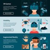 Horizontale Webseiten-Fahnen der virtuellen Realität eingestellt Stockfotos